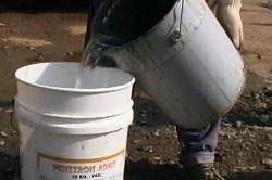 Процесс разбавления присадки водой
