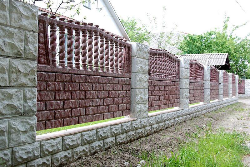 Покраска бетонного ограждения