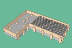 Схема цементной дорожки