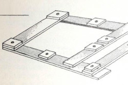 Схема деревянного шаблона для бетонирования