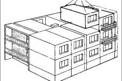 Схема дома из объемных блоков