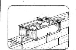 Схема формования шлакоблока