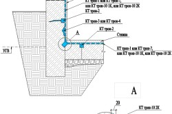 Схема гидроизоляции фундамента из монолитного бетона