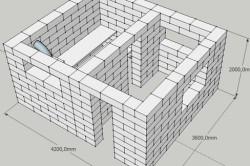 Схема кладки дома из пеноблоков