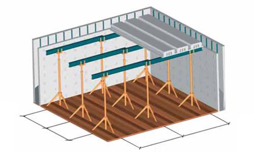 Схема межэтажного бетонного перекрытия