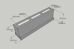 Схема монтажа бетонной стены