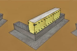 Схема монтажа монолитной стены