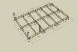 Схема размеров фундамента под пристрой