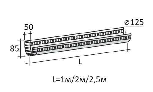 Схема желоба для бетона