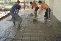 Армирование пола из бетона