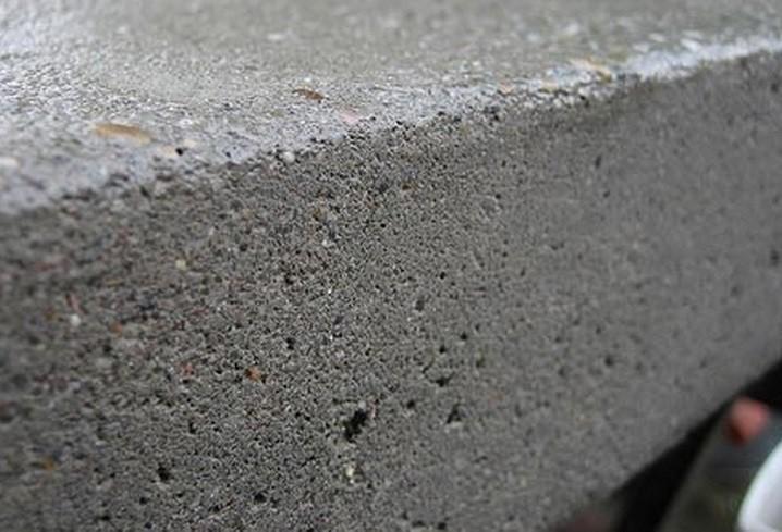 Образец готового бетона