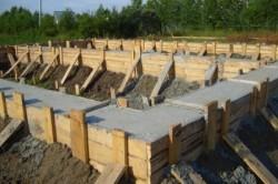 Ленточный фундамент из бетона