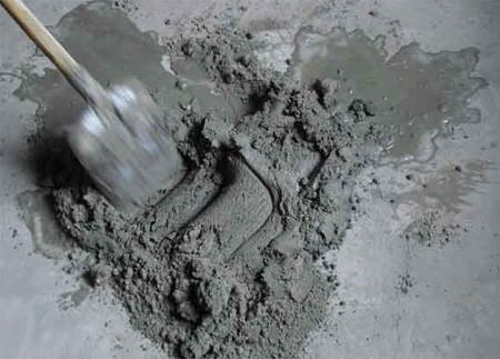 Цементный раствор.
