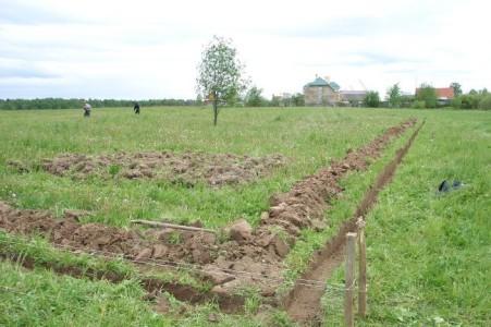 Земляные работы и разметка участка
