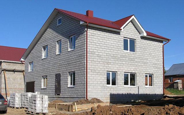 Дом из керамзитобетоных блоков