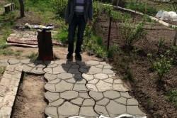 Трафарет для садовой дорожки