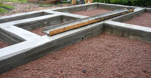 Ленточный фундамент отлично подойдет для тех домов, где планируется строить гараж и подвал.