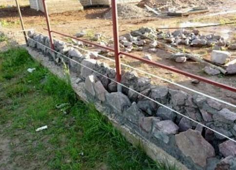 Возведение каменного фундамента