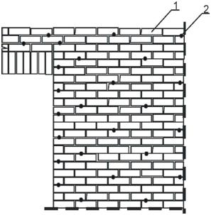 Расположение анкеров в зоне оконных и дверных проемов