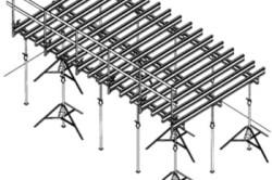 Схема опалубки для бетонного перекрытия