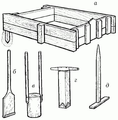 Приспособления для приготовления бетонной смеси