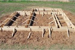 Деревянная опалубка для ленточного монолитного фундамента