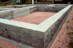 Монолитный фундамент ленточного типа