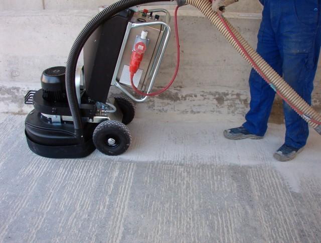 Шлифовка бетонного пола.