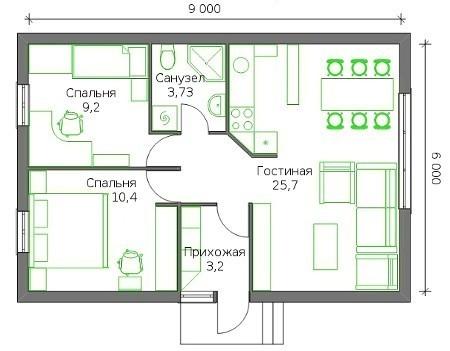 Детальный план дома с размерами