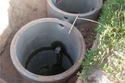 Двухкамерный септик из бетонных колец