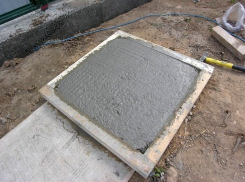 Самодельная форма для тротуарной плитки
