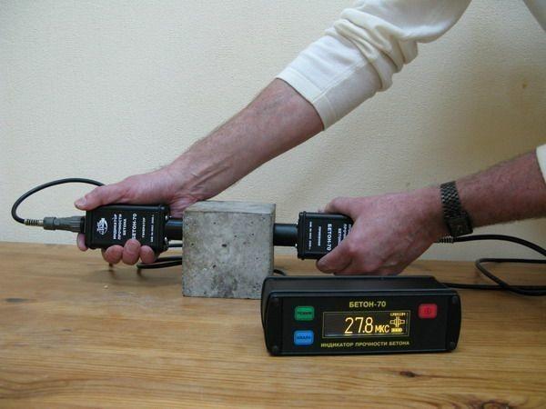 Измерение прочности бетона ультразвуковым прибором – дефектоскопом