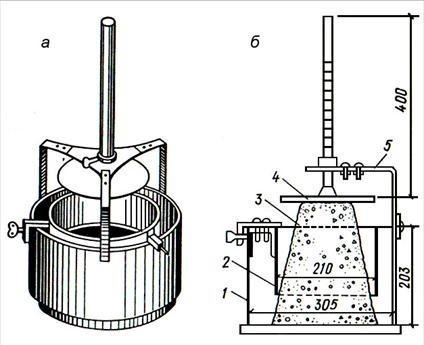 Определение жесткости бетонной смеси