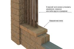 Схема строительства забора из блоков