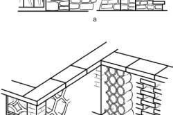 Схема устройства бетонно-блочных ограждений