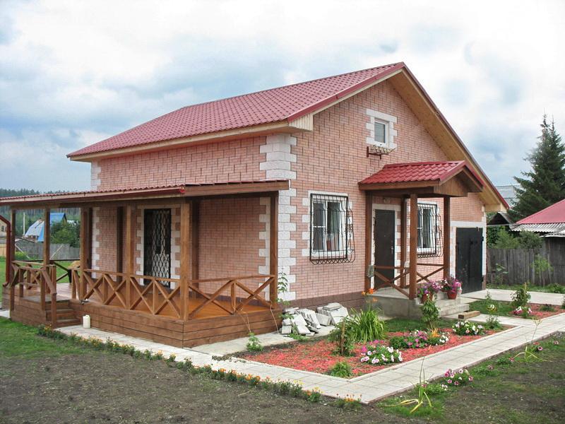 Дом из керамзитобетонных блоков.
