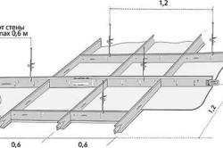 Схема каркаса бетонного потолка