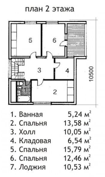 Проект дома из газобетона 148 м2.