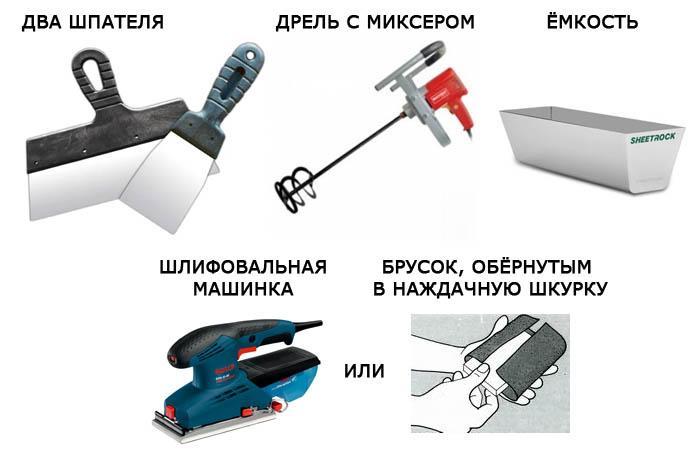 Инструменты для шпаклевки стен своими руками