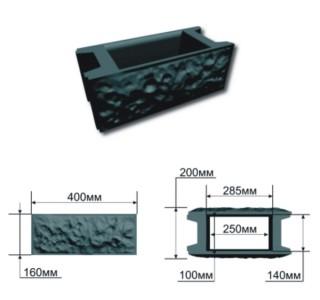 Схема блока бетонного забора