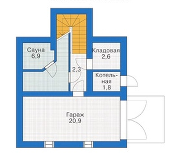 Схема плана цокольного этажа.