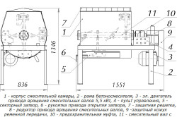 Схема бетоносмесителя