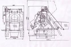 Схема гравитационного бетоносмесителя