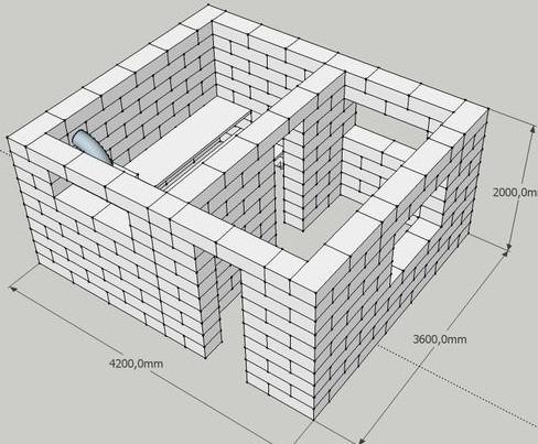 Схема кладки дома из