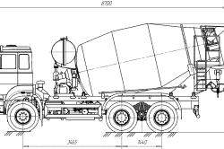Схема миксера-автомобиля