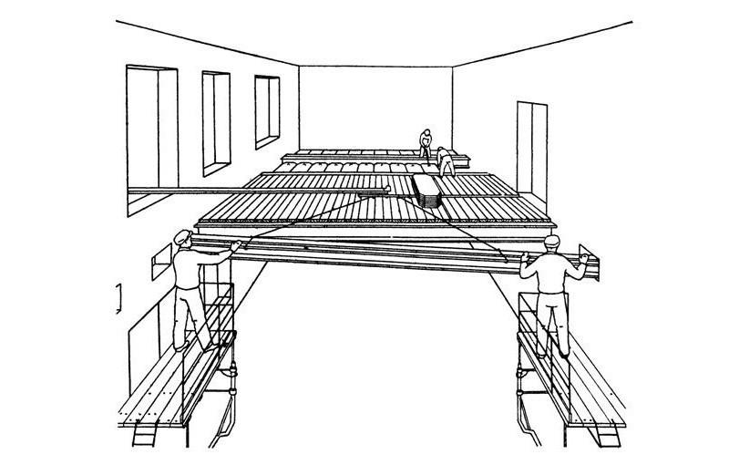 Схема монтажа железобетонного перекрытия