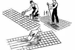 Схема удаления цементного загрязнения