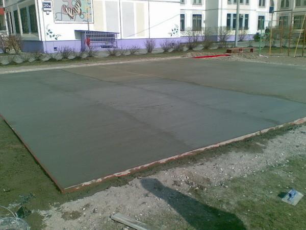 Бетонные площадки для автомобилей
