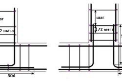 Армирование с использованием отдельных полос схема
