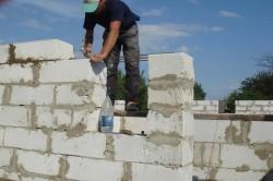 Армирование стены из пеноблоков